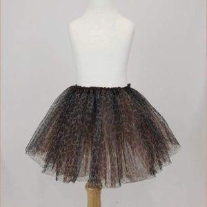 Girls Cheetah Leopard Tulle Skirt